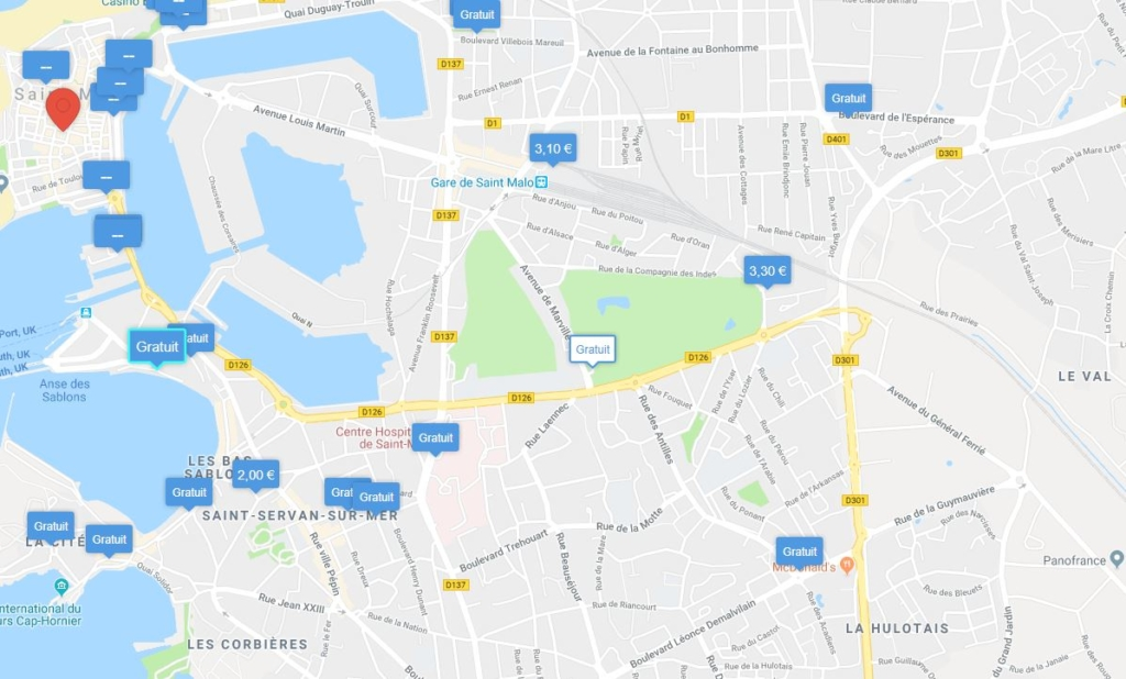 location parking saint malo