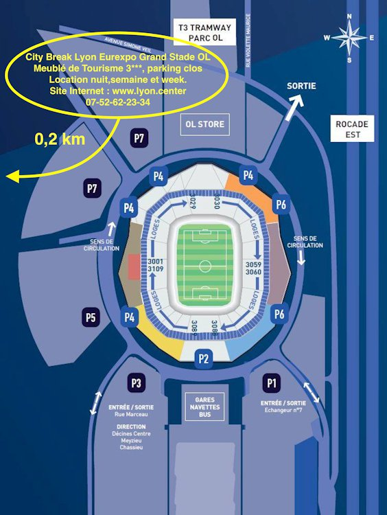 place parking stade ol