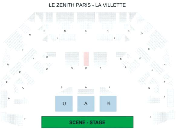 place parking zenith paris